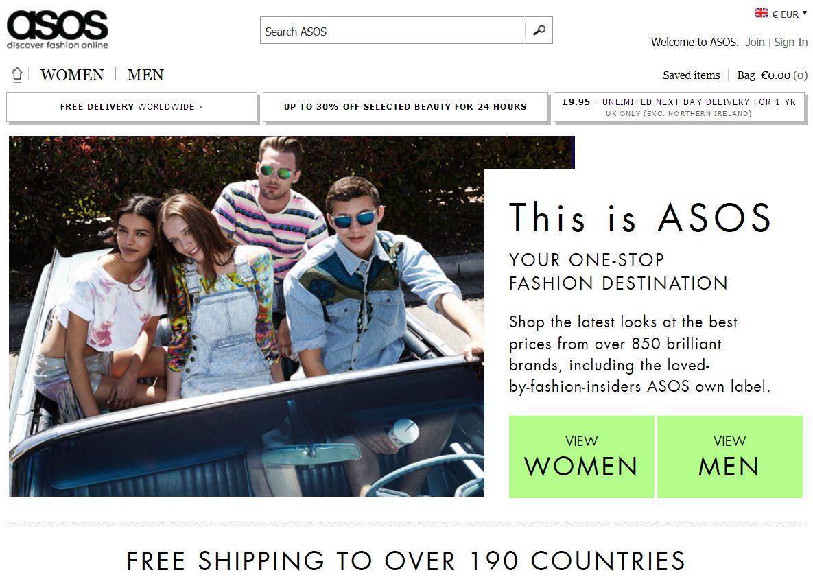 4867168dd35c0 Obchod má taktiež vlastnú značku produktov uvádzaných, ako inak, pod menom  ASOS. V medzinárodne pôsobiacom e-shope nájdeme celkovo cez 800 rôznych  značiek, ...