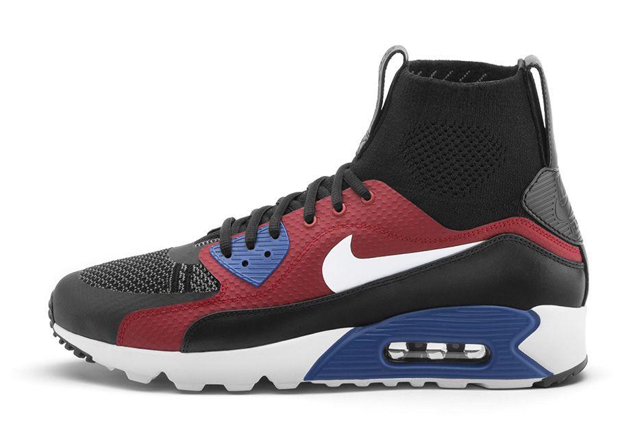 Nike Air Max 90 Essential Rot Schwarz