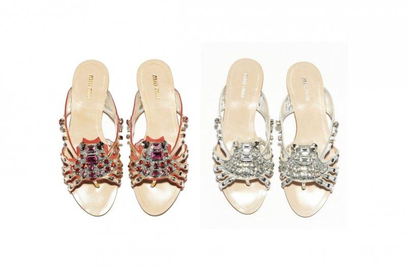 8820431621 Miu Miu Crystal Marine sandále – leto 2012